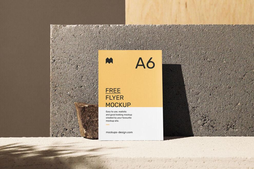 Free A5 & A6 Flyer Mockup Scene (PSD)
