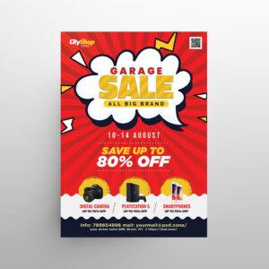 Garage Sale Shopping Free Flyer Template (PSD)
