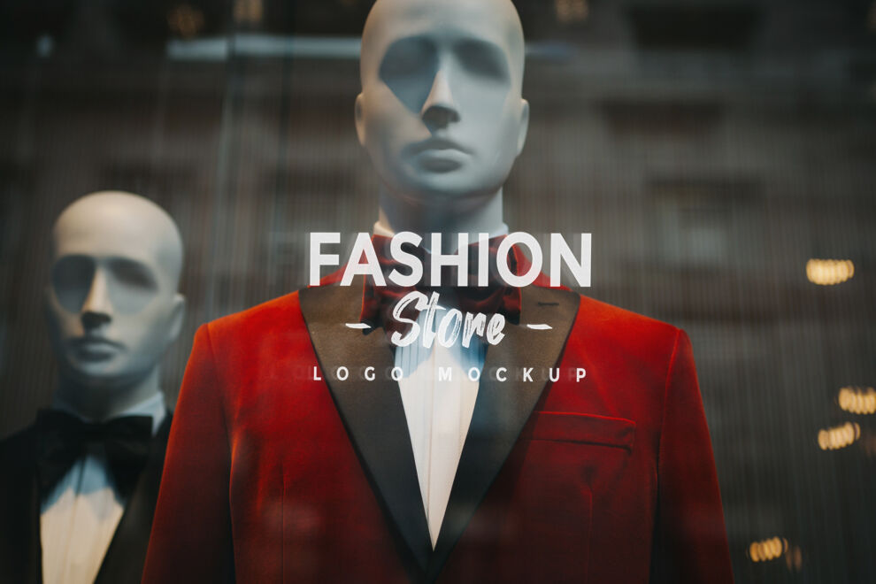 Logo on Glass Window Shop Free Mockup