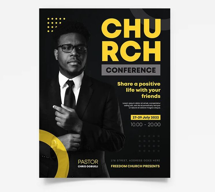 Minimalist Chuch Event Free Flyer Template (PSD)