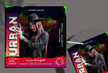 Music Night Party Free Instagram Banner (PSD)