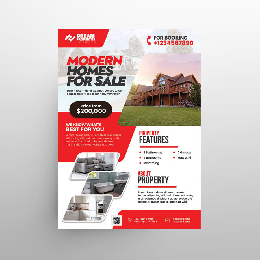 Real Estate Business Sale Free Flyer Template (PSD)