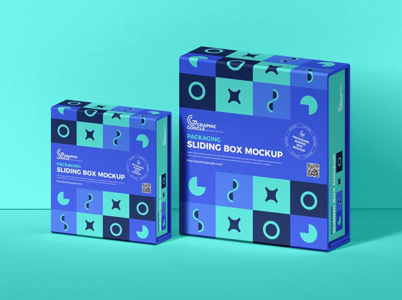 Sliding Box Packaging Free Mockup