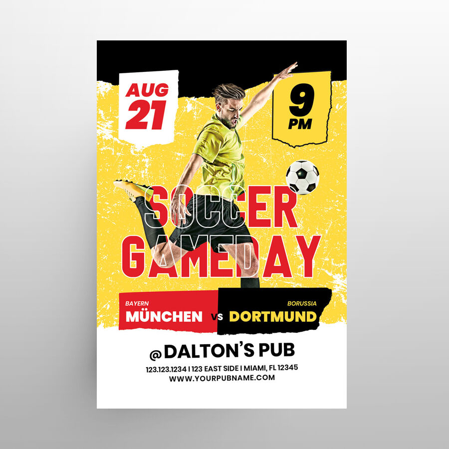 Soccer Event Free Flyer Template (PSD)