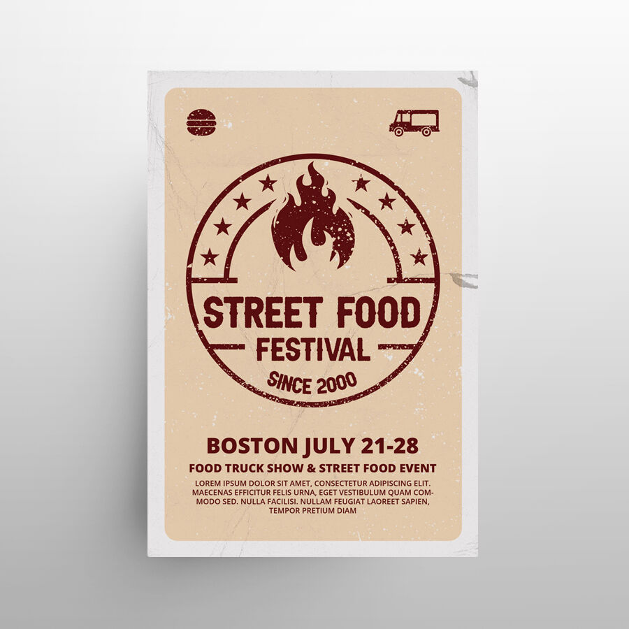 Streetfood Festival Free Flyer Template (PSD)