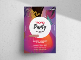 Summer Vibe Party Free Flyer Template (PSD)