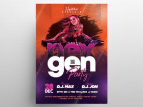 The Club Party Free Flyer Template (PSD)