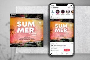 The Summer Season Free Instagram Banner (PSD)
