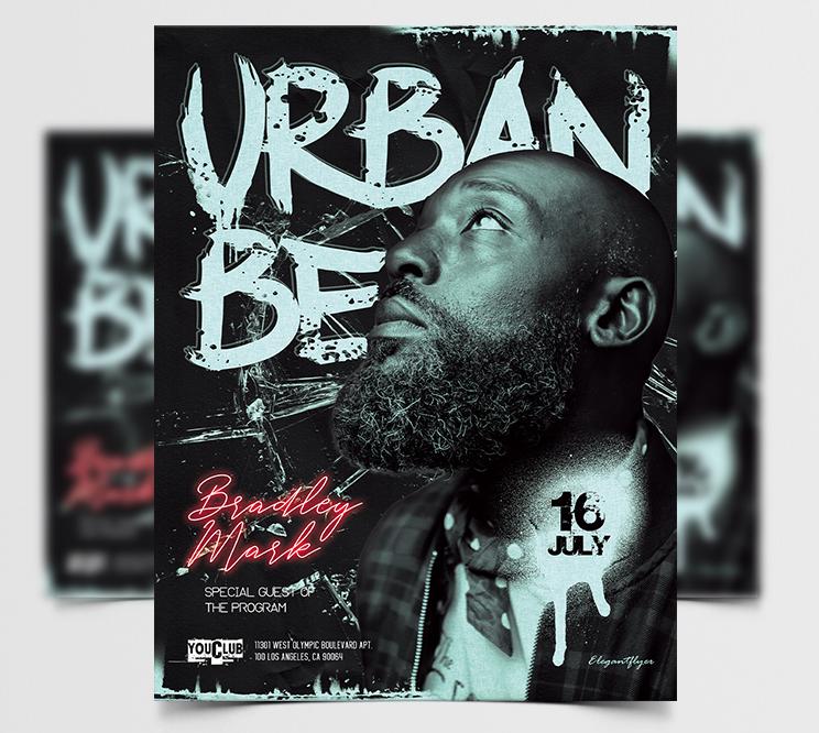 Urban DJ Beats Free Flyer Template (PSD)