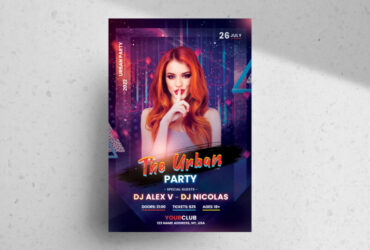 Urban Ladies Party Free Flyer Template (PSD)