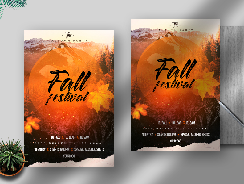 2021 Fall Festival Free Flyer Template (PSD)