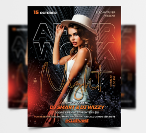 After Work Party Free Flyer Template (PSD)