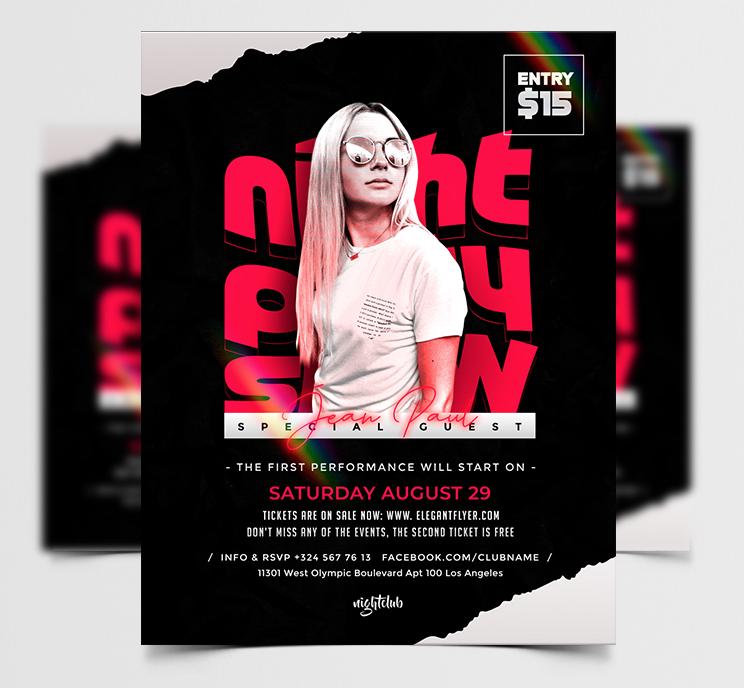 Artist Music Event Free Flyer Template (PSD)