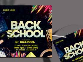 Back To School Free Flyer Template (PSD)