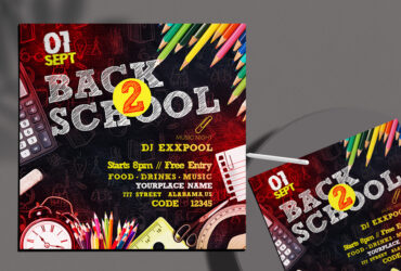 Back To School Free Instagram Banner (PSD)
