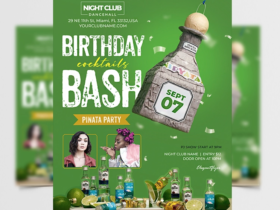 Birthday Event Party Free Flyer Template (PSD)