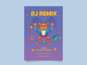 DJ Remix Party Free Flyer Template (PSD)