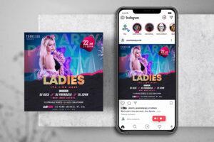 DJ Week Party Free Instagram Post Template (PSD)