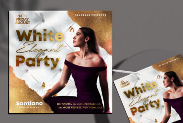 Elegant Party Free Instagram Post Template (PSD)