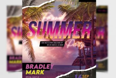 Farewell Summer Event Free Flyer Template (PSD)