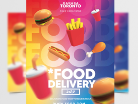 Food Devilery Advertisment Free Flyer Template (PSD)