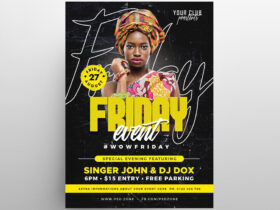 Friday Music Party Free Flyer Template (PSD)