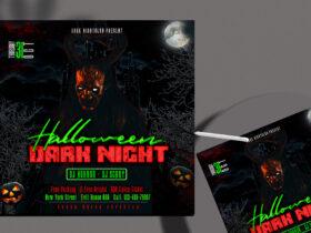 Halloween Night Free Instagram Post Template (PSD)