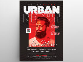LIVE DJ Party Free Flyer Template (PSD)