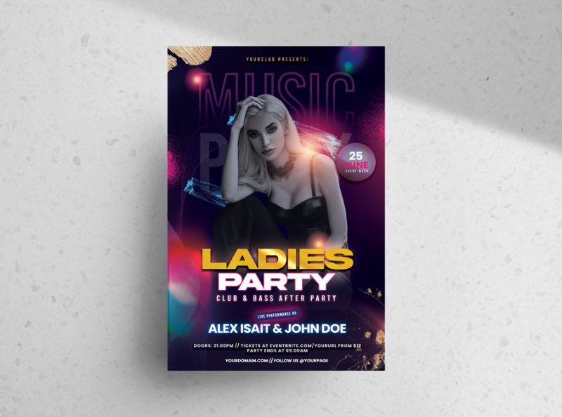 Ladies Night Party Free Flyer Template (PSD)