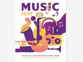 Minimialist Jazz Music Free Flyer Template (PSD)