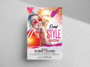 Music DJ Event Free Flyer Template (PSD)