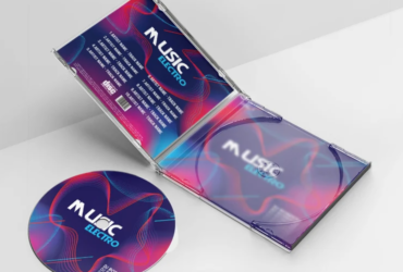 Music Electro Free CD Cover Art Template (PSD)