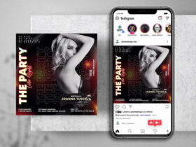 Nightout Party Free Instagram Post Template (PSD)