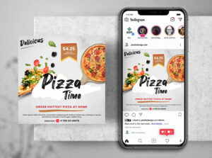 Pizza Delivery Free Instagram Post Template (PSD)