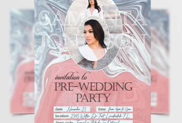 Pre-Wedding Party Free Flyer Template (PSD)