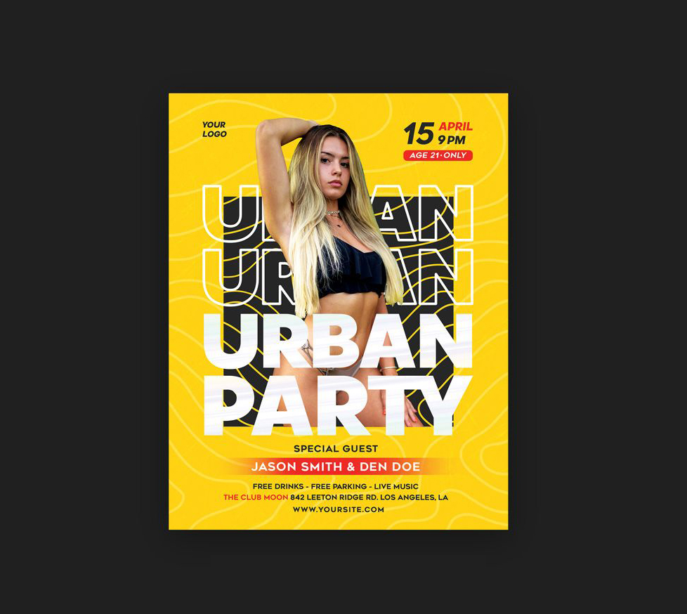 Urban Party DJ Free Flyer Template (PSD)