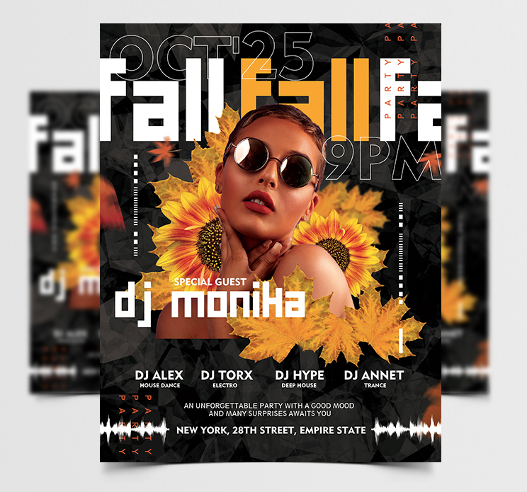 Autumn Concert Party Free Flyer Template (PSD)