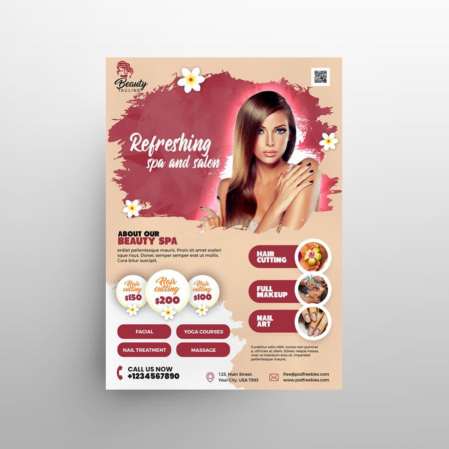 Beauty Salon & SPA Free PSD Flyer Template