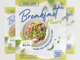 Breakfast Hours Ad Free Flyer Template (PSD)