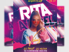 Club Party Event Free Flyer Template (PSD)