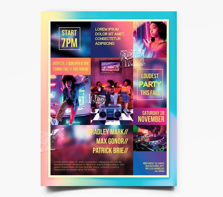 Club Stylish Free PSD Flyer Template