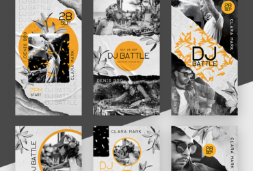 DJ Battle Events Free Instagram Stories Templates (PSD)
