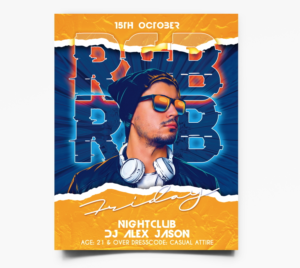 DJ Party Event Free Flyer Template (PSD)