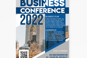 Free Business Conference PSD Flyer Template