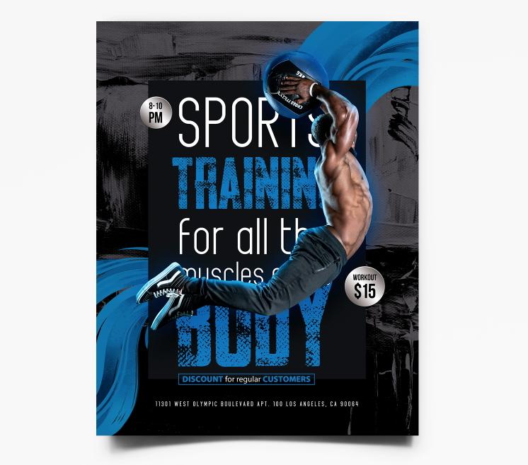 Free Fitness & Sport Flyer Template (PSD)