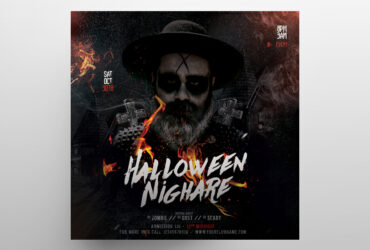 Free Halloween Nightmare Party Flyer Template (PSD)