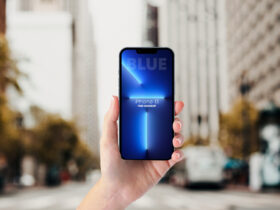 Free iPhone 13 Pro In Hand Mockup (PSD)