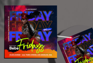 Friday Girls Party Free Instagram Banner (PSD)