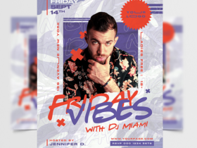Friday Vibes Free Flyer Template (PSD)