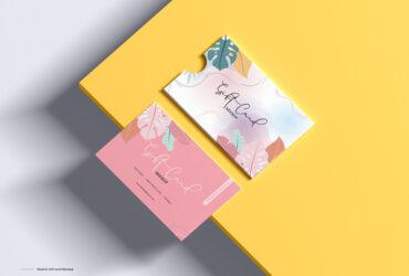 Gift Card Free Mockup (PSD)